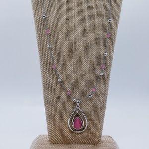 Lia Sophia Silver & Pink Illusion Necklace